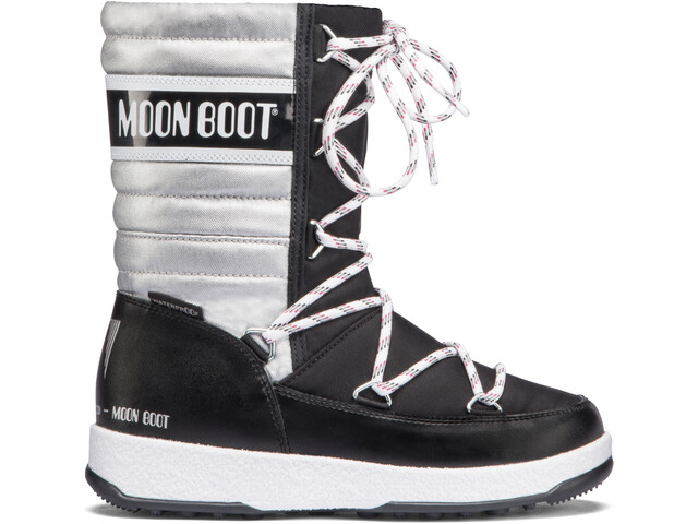 Moon Boot Quilted WP Saappaat Tytöt, black-silver